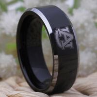 Auburn Tigers Design Tungsten Wedding Ring