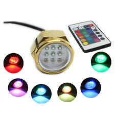 27W RGB LED Boat Yacht Underwater Drain Plug Light Fishing Lamp+Controller IP68
