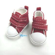 Yo-SD bjd Doll Shoes 2 Strap Denim Boots RED (for Foot 4.5cm long)