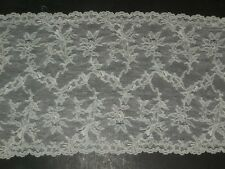 "scalloped stretch lace trimming fabric honeydew lycra trim 2 yards x 9"" wide"