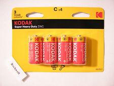 pack of 4 - SIZE C KODAK 1.5v ZINC CHLORIDE BATTERIES * expire 2021 * HP11 LR14