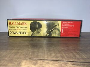 Vintage Hallmark Total Grooming Electric Hot Styling Comb Brush. Model 5800.