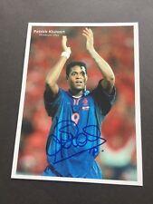 PATRICK KLUIVERT Weltpokal Sieger 1995 signed Foto 13 x 17 Autogramm RAR