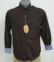 Vintage Italia Reserved Stock Brown Corduroy Cotton L/S Men's Shirt NWT $110 M L