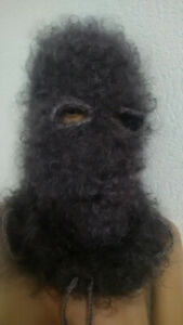 Hat Balaclava Sweater Mohair 100% Goat Down Organic turtle neck Fetish