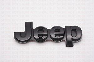 2014-18 Jeep Grand Cherokee GLOSS BLACK Tailgate Emblem Mopar OEM 5UY60DX8AA