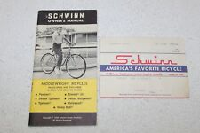 Schwinn Bicycle Owners Manual From 1969 For Middleweight Bicycles