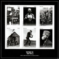 Nevis 2014 MNH WWI WW1 World War I 100th Anniv 6v M/S II Military Stamps