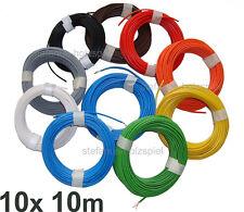Litze 1-adrig  18 x 0,10 Modellbahn-Kabel 10x10m=100m Farben wählbar * 0,14 mm²