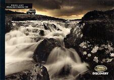 Land Rover Discovery 1994-95 UK Market Prices & Options Brochure MPi Tdi V8i