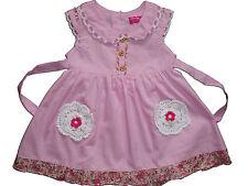 Nuevo para Bebé Algodón Chica Fiesta Vestido de color rosa, blanco from 6-9 TO