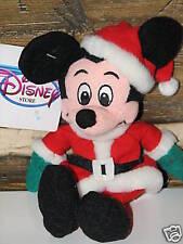 "Disney Mickey Mouse Santa Christmas  Beanbag NWT 9"""
