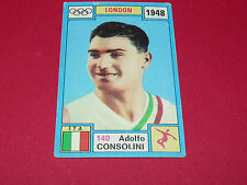 N°140 A. CONSOLINI 1948 PANINI OLYMPIA 1896 - 1972 JEUX OLYMPIQUES OLYMPIC GAMES