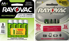 8 Rayovac Batteries 4 AA Recharge And 4 AAA Platinum Pre-Charged Batteries