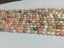 5-6mm Multi-Coloured Freshwater Cultured Pearl Loose Beads 14""