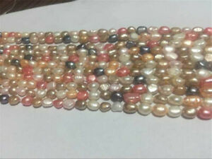 5-6mm Multi-Coloured Freshwater Cultured Pearl Loose Beads 15""