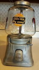 ORIGINAL VINTAGE SILVER KING GUMBALL MACHINE