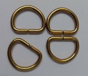 Genuine British Military Issue 17mm Brass Small Standard D Rings X4 Pieces STD61