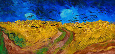 Van Gogh 1890, Wheatfield with Crows, Fade Resistant HD Art Print or Canvas