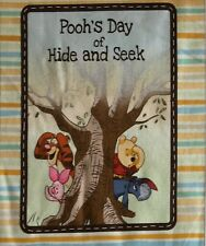 Winnie the Pooh Pooh's Day of Hide and Seek Tigger Roo Piglet Book Panel Fabric