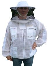 🐝Bee Jacket 3 Layer Ultra Ventilated round hat Beekeeping Jacket bee jacket