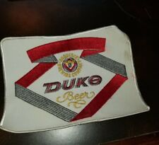 Duke Beer Duquesne Brewing Company Patch back jacket Vintage Embroidered 8x6