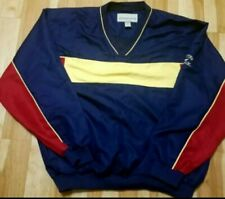 Cutter & Buck Clima Guard L Golf Pullover Windbreaker Men Blue Yellow Red Shirt