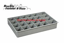 (1) LARGE PLASTIC INSERT 24 HOLE STORAGE TRAY FOR NUTS, BOLTS AND WASHERS