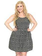 New Fashion Women's Plus Size Sleeveless Party Cocktail Stretch Fit Tunic Dress