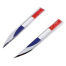 3D Blade France Flag Decal Badge Emblem Car Side Fender Door Window Sticker Trim