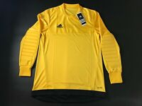 New Adidas Climalite Men's Long Sleeve Soccer Jersey Entry 15 GK Yellow, Black