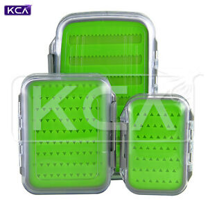 Waterproof Double-Sided Fly Box, Silicone Insert, Clear Lid, Large/Medium/Small