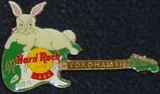 Hard Rock Cafe YOKOHAMA 1999 Asian New Year PIN Bunny Rabbit & Guitar HRC #10561