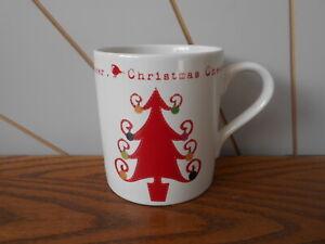 CHRISTMAS CHEER - TREE lovely seasonal pattern stoneware mug DEBENHAMS