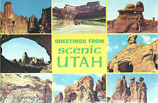 Greetings From Scenic Utah   8 Thumbnail Pictures    Unused Chrome Postcard