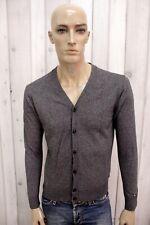 TOMMY HILFIGER Uomo Taglia S Cardigan Maglione Cotone Sweater Pullover Maglia