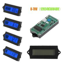 8-70V DC LCD Lead Acid Lithium Battery Capacity Digital Tester Indicator Blue