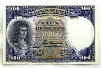 Spain-Billete. 100 Pesetas 1931. Madrid. Sin serie. EBC+/XF+
