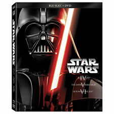 Star Wars Trilogy Episodes IV V VI 4 5 6(Blu-ray/DVD 2013 6-Disc Set) IV-VI NEW