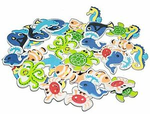 Foam Stickers for decorating eye patches : Sealife