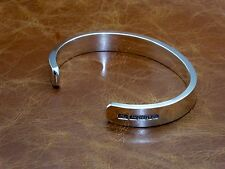Para Hombres Caballeros sólido de plata esterlina 925 pulsera brazalete de par abierto Pesado