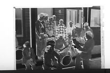 (1) B&W Press Photo Negative Boys Band Charles C Kennedy Drums Trumpets - T2976