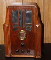 Antique 1936 Philco Tombstone Table Radio Model 620