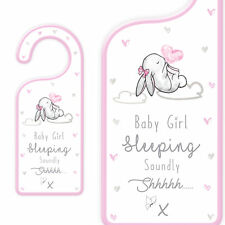 Nuevo Bebé Puerta Placa Colgante con texto-Bebé Niña Dormir tranquilícese