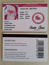 Novelty Santa's Driving Licence