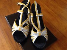Miss Sixty Stripy High Heel Sandals EU39 UK6 Worn Once Party Clubbing Shoes