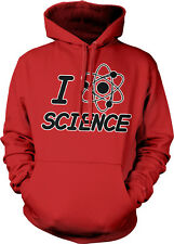 I Love Science Molecule Atom Chemistry Physics Geek Nerd Lab Hoodie Sweatshirt