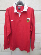 Maillot rugby PAYS DE GALLE Nike WALES shirt coton oldschool jersey L