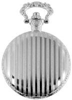 Taschenuhr Weiß Silber Klassik Streifen Analog Quarz Metall D-12602200031350