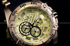 New Invicta Men's 52mm Speedway Gold Chronograph Silicone Strap Watch